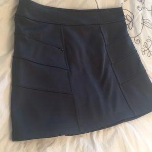 Athleta charcoal gray skirt